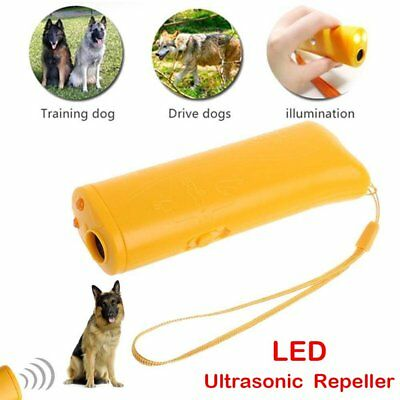 Ultrasonic Aggressive Pet Dog Repeller Training Aid Stop Anti Barking Device FR