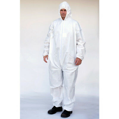 Tyvek Ty127 Alternative Elastic Wrists/ankles + Hood Microporous Coverall Sm-5X