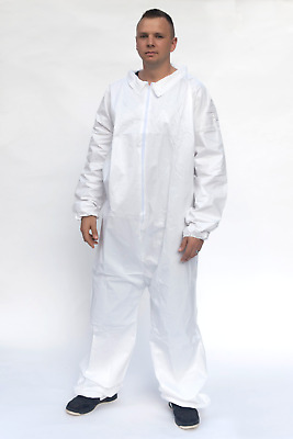Tyvek Ty125 Alternative Elastic Wrists & Ankles,white Microporous Coverall Sm-5X