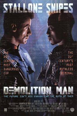 Retro Demolition Man Movie Poster Fridge Magnet - Stallone / Snipes