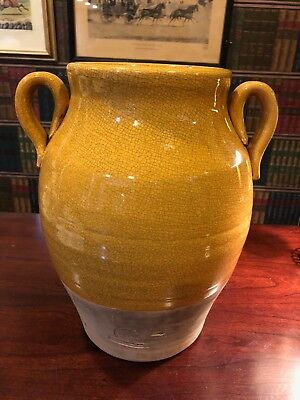 Rowe Pottery Works Jug Large Cambridge Wisconsin Hand Made Crackle Glazed Vase
