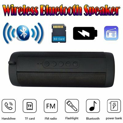 Wireless Bluetooth Lautsprecher wasserdicht MP3 Player SD USB AUX FM+Flashlight