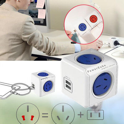 PowerCube Multiple Socket Plugs Outlet Adapter Electrical Fitting Multifunction