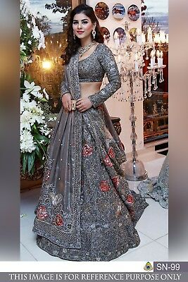 bca576b6481 Wedding wear Lehenga Designer Indian Latest saree Bollywood lengha choli  set new