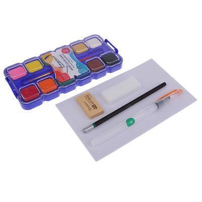 25 Set Portable Watercolor Pans Pigment Set For Artist Drawing Art Supplies