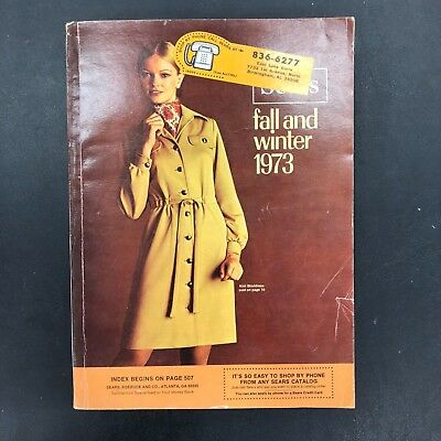 Vintage Sears Fall and Winter 1973 Catalog