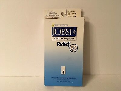 Jobst Medical Therapeutic Knee High Stockings 114809 Beige XL 15-20