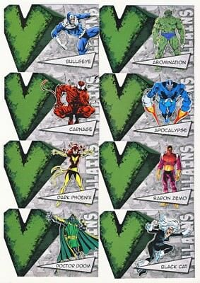 2012 Upper Deck Marvel Beginnings III Villians Die-Cuts 45-Card Insert Set