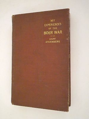 My Experience Of The Boer War  Count Sternberg Vintage Book South Africa 1901