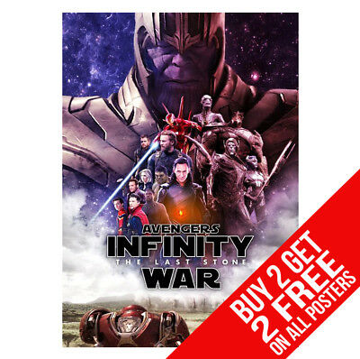 Avengers Infinity War Thanos Poster Ee2 Print A4 / A3  - Buy 2 Get Any 2 Free