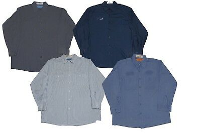 4 Used Work Shirts No Tag Long Sleeve Mixed Colors S M L XL XXL Cintas Red Kap