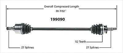 CV Axle Shaft-New Front Right WorldParts 199090