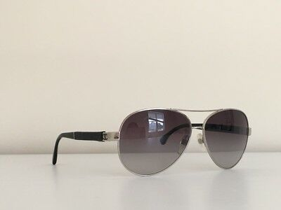 eea530b61e96 29 CHANEL 4195 Aviator Gold Metal Brown Quilted Leather Gradient Sunglasses