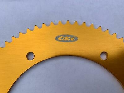 Oke 73 Tooth GOLD Go Kart Sprocket Gear - Quality Anodised Alloy Suit 219 Chain