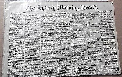 1853 The Sydney Morning Herald ~ Old & Rare ~ Full Newspaper 4 Pages