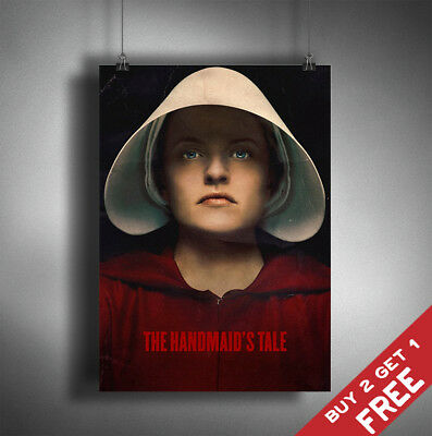 THE HANDMAID'S TALE TV Show PHOTO Print POSTER Series Art Elisabeth Moss June 01