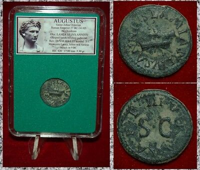 Roman Empire Coin AUGUSTUS Clasped Hands On Obverse RARE COIN