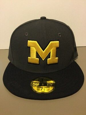 designer fashion 645a2 92501 ... new zealand michigan wolverines new era 59fifty micrograph fitted hat.  adult size 7 1 8