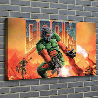 "12""x20""Doom Game Poster Painting Print on Canva Home Decor Room Wall Art Picture"