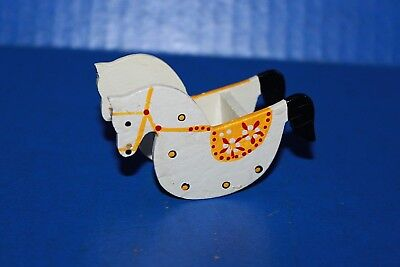 Cute Vintage Mini Wooden Rocking Horse