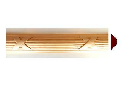 """Hand Carved REED /& RIBBON Wood Molding Moulding 1-5//16/"""" 2/""""W x 4ft 2pc 8ft"""