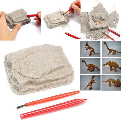 CHILDS KIDS DIG & DISCOVER DINOSAUR JUNGLE FOSSIL EXCAVATION PLAY unearthed bloc