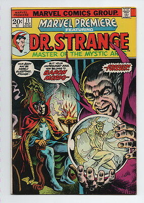Marvel Premiere Comic Book #11 Marvel Comics 1973 Dr. Strange Fine Origin