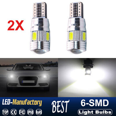 2X T10 501 194 W5W 5630 LED SMD Car White HID Canbus Error Free Wedge Light Bulb