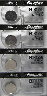 4 PIECE Fresh ENERGIZER CR1220 BATTERY 3V LITHIUM CR 1220 DL1220 BR1220 EXP 2024