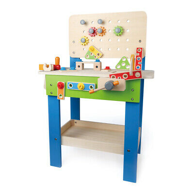Hape My Giant Work Bench Fun Handy Wooden Toy Set - Ages 3yrs+ **FREE DELIVERY**