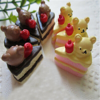 5Pcs Miniature Artificial Fake Food Cake Resin Decora Craft Play Doll House Toy.