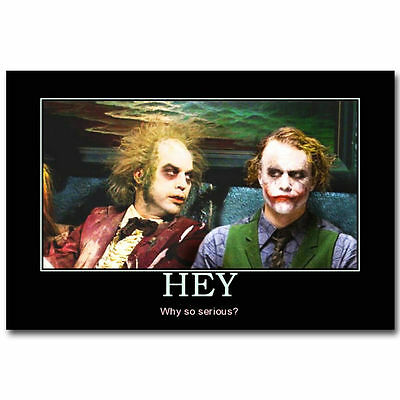 Joker and Beetlejuice Tim Burton Movie - Art Silk Poster Deco 0947