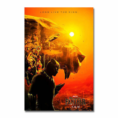 Black Panther 2018 Hot Movie Art Silk Canvas Poster 12x18 24x36 inch