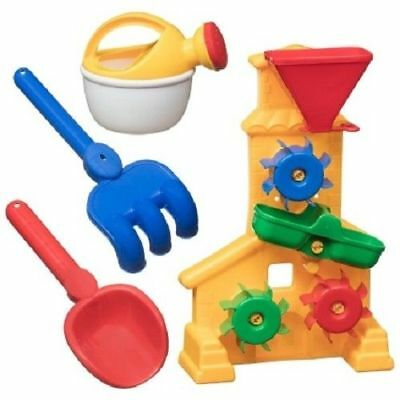 Kids Sand & Water Mill Play Set Sandpit Beach Garden Toy Watering Can Moulds