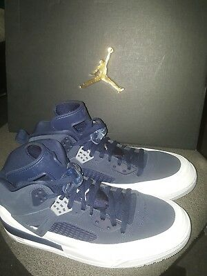315371-406  JORDAN SPIZIKE MIDNIGHT NAVY METALLIC SILVER MEN SNEAKERS Sz 11 39d6e376e