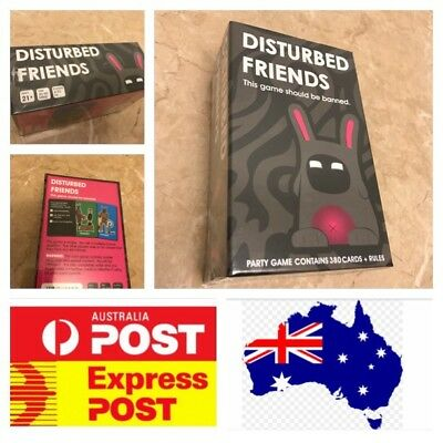 Funny Party Cards Game: Disturbed Friends
