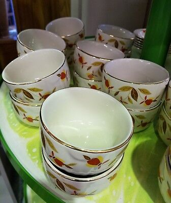Hall's China Autumn Leaf Jewel Tea Custard  Bowl