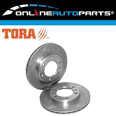 2 Drilled+Slotted Front Disc Brake Rotors Hilux 89-99 4x4 LN106 RN105 YN106 Pair