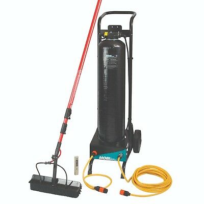 Professional window cleaning equipment, mobile trolley kit extended pole