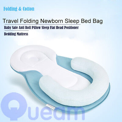 Baby Safe Cotton Anti Roll Pillow Sleep Flat Head Positioner Bedding Mattress