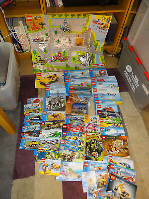 Joblot Of 55 Plus X Lego Instructions Lord Of The Rings City Ninjago