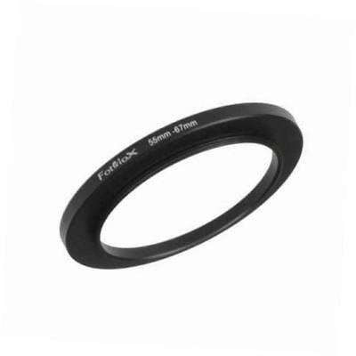 metal step up ring filter adapter, anodized black aluminum 55mm-67mm, 55-67 mm