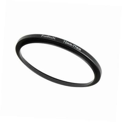 metal step up ring filter adapter, anodized black aluminum 72mm-77mm, 72-77 mm