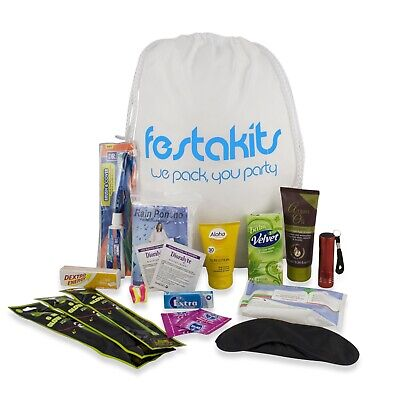 Festakits Essentials - 60 Piece Festival & Camping Survival Kit