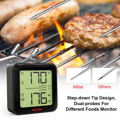 Funk Digital Wireless Bratenthermometer Grillthermometer Fleisch-Thermometer APP