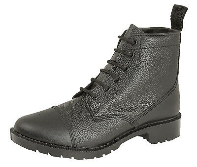 007821e4c8b GRAFTERS 6 EYE Black Cadet Army Combat Work Parade Grain Leather Boots Size  4-12