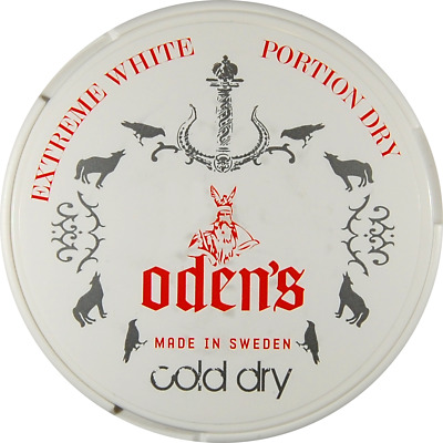 Halbe Stange (5 Dosen) - Odens Cold Extreme White Dry Chewing Bags / Snus