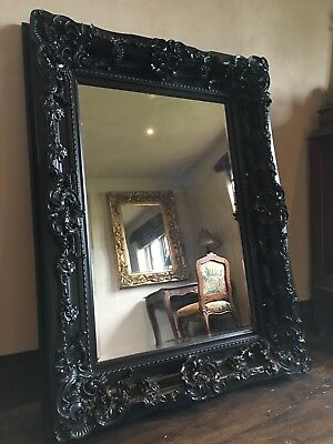 Large Statement Black French Ornate Dress Leaner Wall Floor Gothic Mirror 7ft