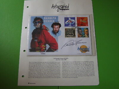 Westminster Autographed Editions Fdc Millennium Signed Sir Ranulph Fiennes