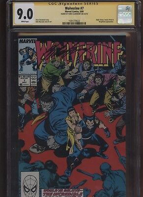 Wolverine #7 CGC 9.0 SS Chris Claremont 1989 INCREDIBLE HULK Jessica Drew